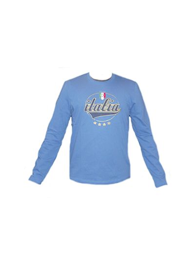 Puma Italy Long Sleeve Tee Team Powder Blue