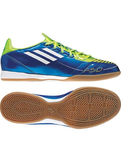 adidas F10 IN Royal/Lime Indoor Soccer Shoes