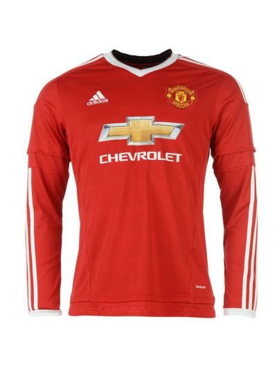 adidas Men's Manchester United Home Jersey Long-Sleeve 15