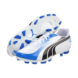 Puma Excitemo ¡ FG White/Black/Royal Firm Ground Soccer Shoes
