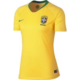 Nike Women's Breathe Brasil CBF Stadium Home Football Jersey