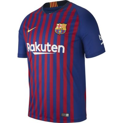 Nike Men's Breathe FC Barcelona Home Stadium Short-Sleeve Jersey