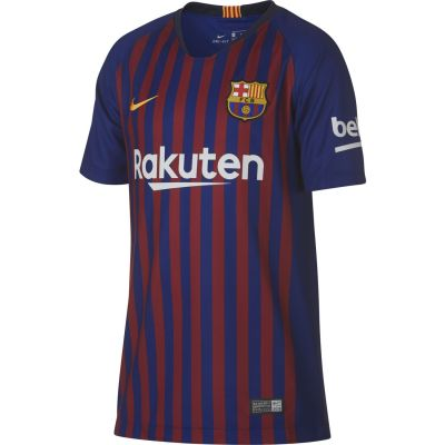 Nike Kids' Breathe FC Barcelona Stadium Home Football Jersey