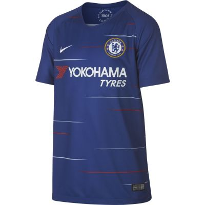 Nike Kids' Breathe Chelsea FC Home Stadium Short-Sleeve Jersey