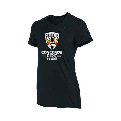 CF Girl/Womens Training Legend T-shirt Black/White